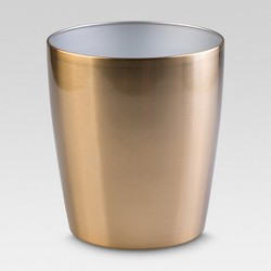 "Steel Round Wastebasket 10""x9""x9"" - Threshold™"