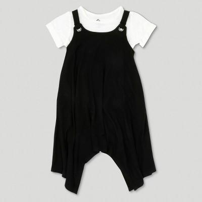 Toddler Girls' Afton Street Apron Dress Set - Black 18 M