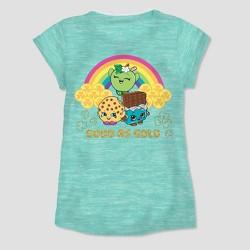 Girls' Shopkins St.Patrick's Day Short Sleeve T-Shirt - Mint Green