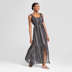 Women's Striped Down Maxi Dress - Xhilaration™ Black