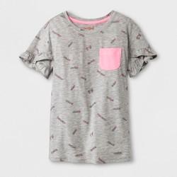 Girls' Ruffle Sleeve T-Shirt - Cat & Jack™