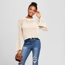 Women's Cropped Pullover Sweater - Xhilaration™ Cream