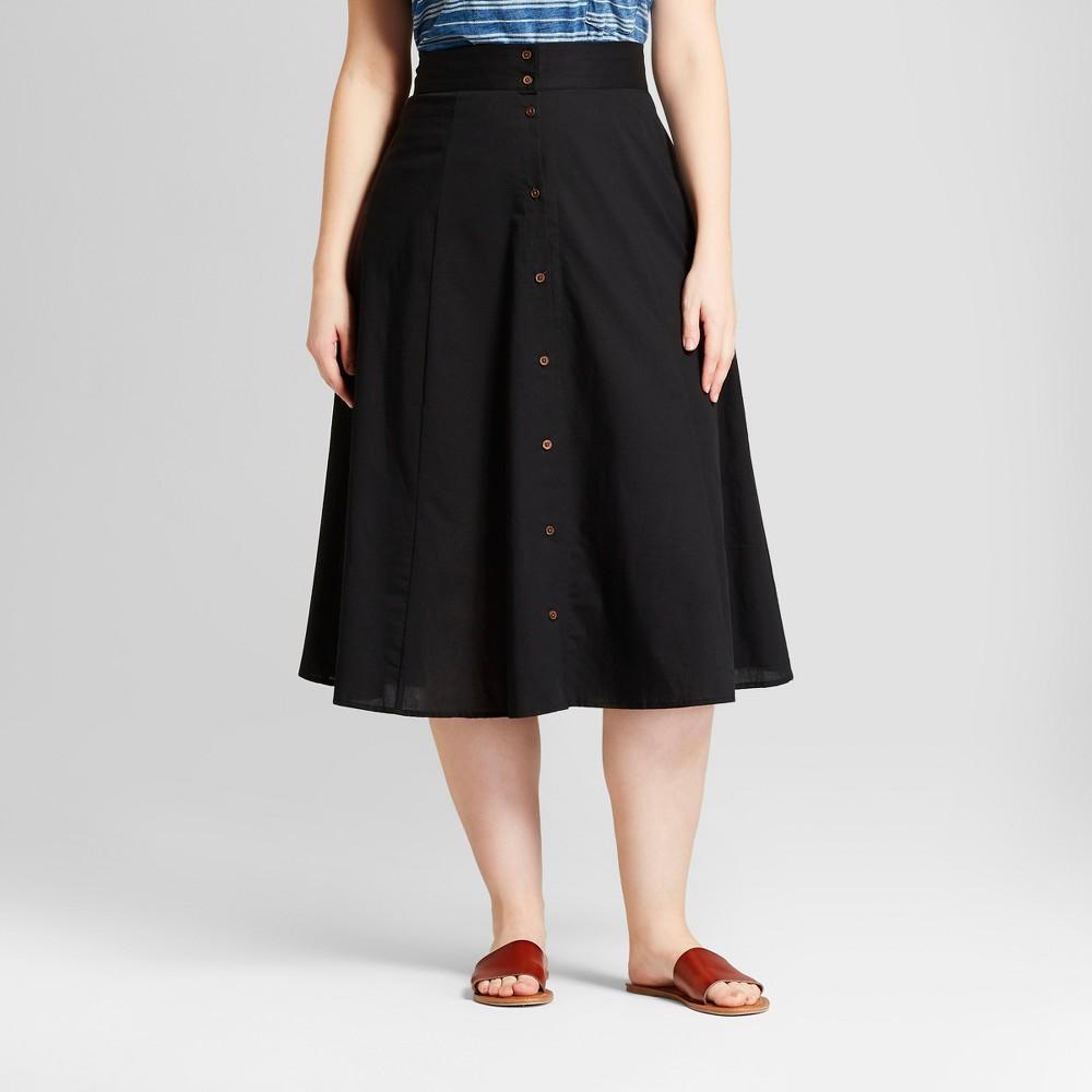 1950s Swing Skirt, Poodle Skirt, Pencil Skirts Womens Plus Size Midi Skirt - Universal Thread Black 3X $24.99 AT vintagedancer.com