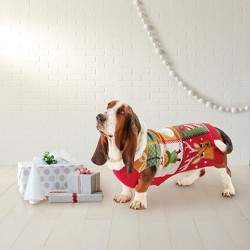 Christmas Ugly Dog Sweater - Red - Wondershop™