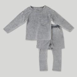 Toddler Boys' Afton Street Long Sleeve Top and Bottom Set - Gray