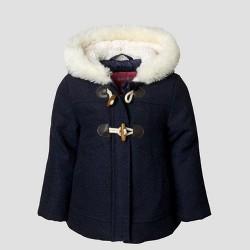 Toddler Girls' Wool Coat - Navy