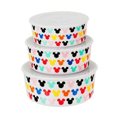 Mickey Mouse & Friends Mickey Mouse Melamine Food Storage Containers White - Set of 3