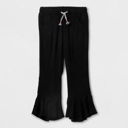 Girls' Crop Fashion Pants Challis - Cat & Jack™ Black