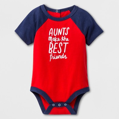 Baby Boys' Short Sleeve Bodysuit - Cat & Jack™ Red/Navy 6-9M