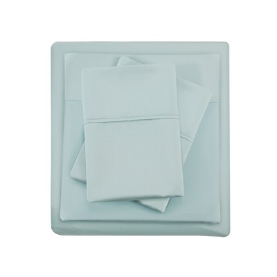 King 1500 Thread Count Cotton Rich Sheet Set Seafoam