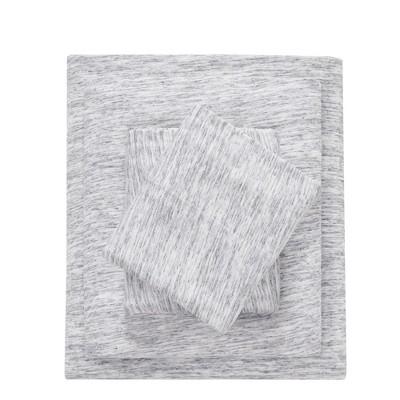 Cotton Jersey Knit Sheet Set (Full)Gray