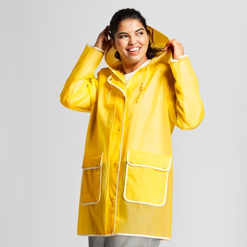 b753722e0d2 Hunter for Target Women s Plus Size Rain Coat - Yellow   Target