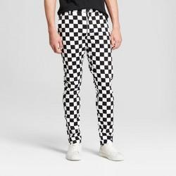 Men's Gingham Check Slim Tapered Pants - Jackson™ Black/White