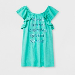 Girls' Waves & Sunsets Graphic Mini Cap Sleeve T-Shirt- Cat & Jack™ Green