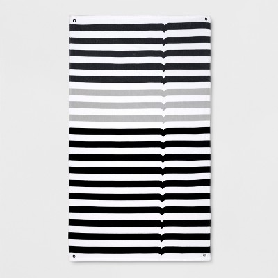 Hunter for Target Striped Beach Towel - Gray