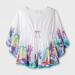 Girls' Ocean 3/4 Sleeve Tunic - Cat & Jack™ White