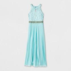Lots of Love by Speechless Girls' Embellished Waist Long Dress - Green