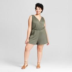 Women's Plus Size Wrap Front Romper - Universal Thread™