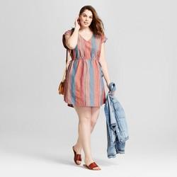 Women's Plus Size Striped Side Tie Dress - Universal Thread™ Blue