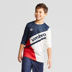Umbro Boys' Long Sleeve Colorblock T-Shirt