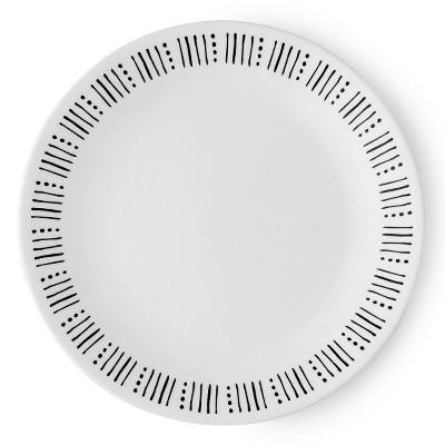 Corelle Colette Vitrelle Salad Plate 8.5  - Black/White
