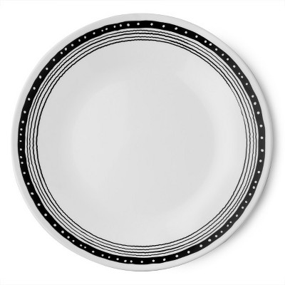 Corelle Bridgette Vitrelle Dinner Plate 11  - Black/White