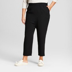Women's Plus Size Crepe Paperbag Jogger Pants - A New Day™