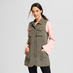 Women's Military Vest - A New Day™ Olive