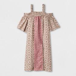 Girls' Cold Shoulder Woven Dress - art class™ Pink