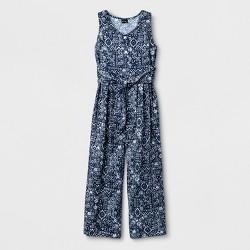 Girls' Tie Front Jumpsuit - art class™ Blue