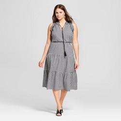 Women's Plus Size Sleeveless Ruffle Midi Dress - Who What Wear™