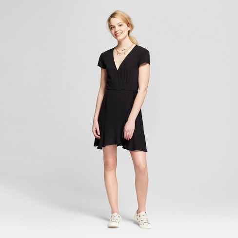 Women's Wrap Dress - Mossimo Supply Co.™ Black - image 1 of 2