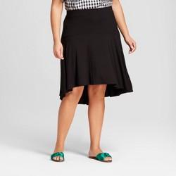 Women's Plus Size Drop Waist Skirt - A New Day™ Black