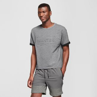 Hunter for Target Men's Embossed Rolled Short Sleeve T-Shirt - Gray