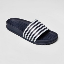 Hunter for Target Women's Striped Slide Sandals - Navy/White