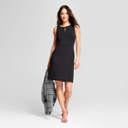 Women's Sleeveless Keyhole Dress - A New Day™ Black