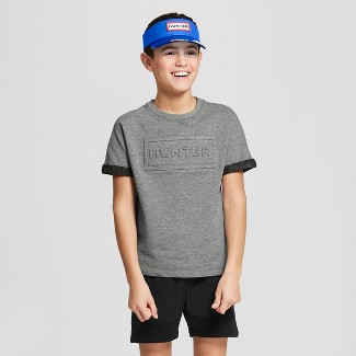 Hunter for Target Boys' Embossed Rolled Short Sleeve T-Shirt - Gray