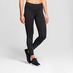 Women's Freedom 7/8th Diagonal Printed Leggings - C9 Champion® Black/Blue