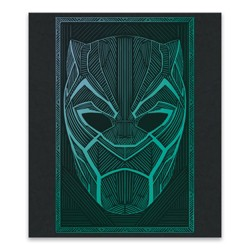 Kids Black Panther Face Artwork Unframed Wall Canvas 12.75 X 14.75 - Artissimo Designs