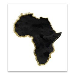 Adult Black History Month Artwork Africa Continent Unframed Wall Canvas 14.25 X 16.25 - Artissimo Designs