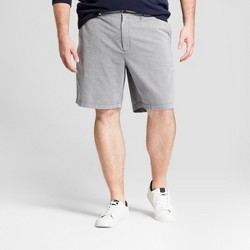 """Men's Big & Tall 9"""" Striped Linden Flat Front Chino Shorts - Goodfellow & Co™ Blue"""