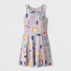Girls' Printed Knit Dress - Cat & Jack™ Heather Gray