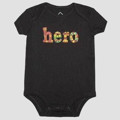 Well Worn Infant Hero Bodysuit - Black 3M