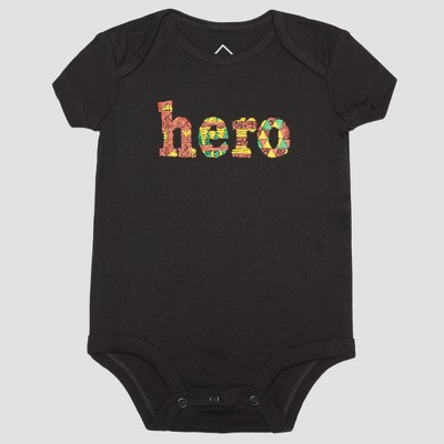 Well Worn Infant Hero Bodysuit - Black 9M