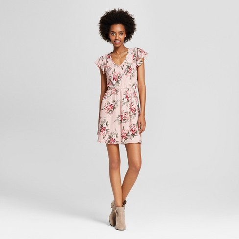 Women's Floral Print Dress - Lily Star (Juniors') Pink - image 1 of 2