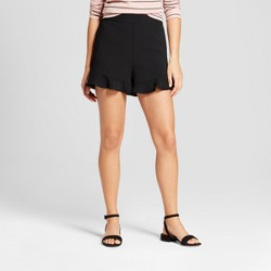 Women's Crepe Ruffle Shorts - A New Day™