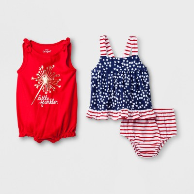 Baby Girls' Romper - Cat & Jack™ Red 6-9M
