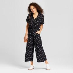 Women's Tie Front Jumpsuit - Universal Thread™ Black