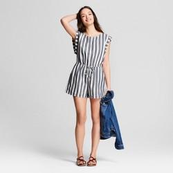 Women's Striped Romper - Universal Thread™ Blue