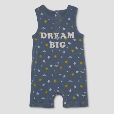 Junk Food Infant Wonder Woman Dream Big Romper - Blue 12 M